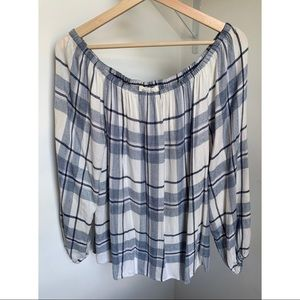 Two by Vince Camuto • S • Plaid Off The Shoulder